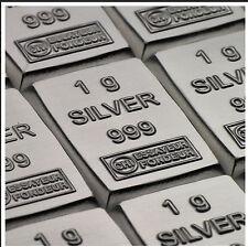 1 Gramm Silberbarren Feingehalt 0.999 Silber Valcambi Schweiz  Feinsilber Barren