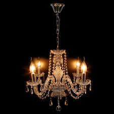 Vintage Fixture Ceiling Crystal Chandelier 4 Lights Candle Pendant Lamp Lighting