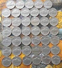 41 ALL DIFFERENT YEARS COINS LOT -  USA UNITED STATES OF AMERICA - 5 cents