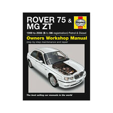 Rover 75 MGZT 1.8 2.0 2.5 Petrol 2.0 TD 99-06 (S to 06 Reg) Haynes Manual