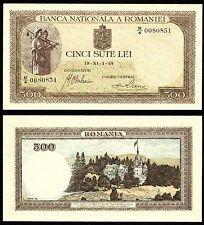 ROMANIA 500 LEI 1 november 1940 P#51 BANKNOTE UNC