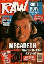 Dave Mustaine of Megadeth on RAW Cover 1990  The Quireboys  Michael Monroe  GWAR
