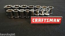 "CRAFTSMAN Socket Set 1/2"" drive SAE STD 6pt  15pcs  #540"