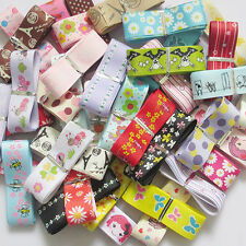 "1"" 20YARDS Sailboat Grosgrain Ribbon Bow Craft Appliques Mix Lots"