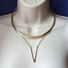 Steve Madden Gold Tone Choker Cuff Necklace NWT $32