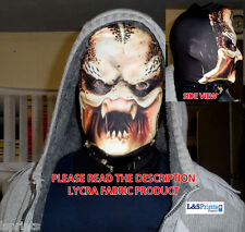 ALIEN DESIGN SCARY HALLOWEEN FULL FACE MASK FANCY DRESS FABRIC LYCRA L&S PRINTS