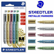 STAEDTLER METALLIC MARKER PENS SET OF 5 ASSORTED COLOURS 8323-S BK5