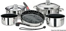 MAGMA Set of Stackable Saucepans with Antistick Ceramic Internal Coating
