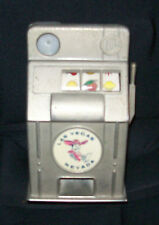 VTG Las Vegas Slot Machine Metal Bank Jackpot Vegas Vic Works Great