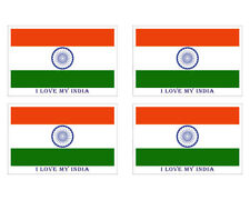 Indian Flag Set Of Four Paper Sticker-BW491