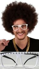 LMFAO REDFOO WIG & WHITE GLASSES Afro Brown Hair Party Rock Sexy I Know It CD