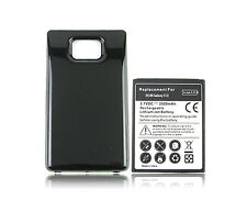 For Samsung Galaxy S2 II i9100 3500mAh Extended Battery With Black Case Cover