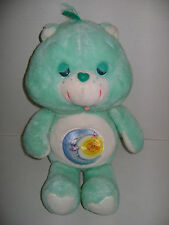 "VINTAGE LARGE 18"" BEDTIME CARE BEAR PLUSH 1983 KENNER"
