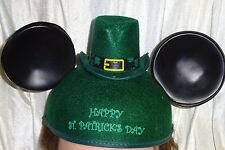 Disney St. Patricks Day Mickey Mouse Ears with Mini Hat UNDATED Adult Size VGPOC
