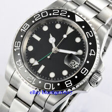Parnis 40mm Sapphire Glass Ceramic Bezel Men's Automatic 2813 Movement GMT Watch