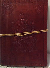 Ganesh Embossed Leather Bound Handmade Paper Journal Diary Note Book. Nice!