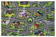 """CHILDREN'S PLAY ROAD MAP DESIGN AREA RUG 39""""X58"""" - BABY/KID RUG NEW"""
