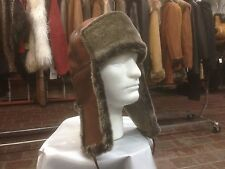 100% shearling Russian Ushanka trooper hat Merina light weight