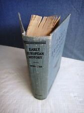 Early European History by Hutton Webster Revised Textbook