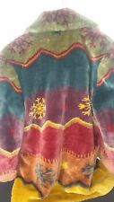 COLDWATER CREEK M SOUTH WESTERN JACKET HEAVY COAT MADE IN AUSTRIA MODACRYL LONG