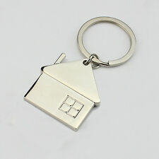 HJ House Home Keyring Alloy Pendant Keyfob Chrome Key Bag Chain Wedding Gift New