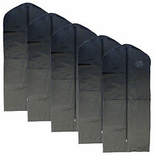 """New 5 PCS Garment Bag for suit, dress black 54 """" w/ transparent window"""