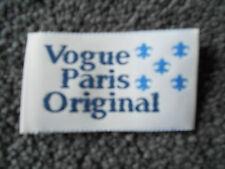 Vogue Designer Paris Original Sew in Label