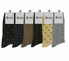 6 PAIR LOT CLASSY MENS DRESS SOCKS FIRST QUALITY SIZE 10-13 COTTON FORMAL SOCKS