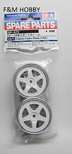 New Tamiya 50672 5 Spoke Option Rims White for RC Car or CC-01 / High Lift Truck