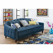 Sofa Bed Sleeper For Small Spaces Couches Couch Hide A Pull Out Convertible Blue