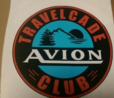 """Avion Vintage style Travel Trailer Decal Travelcade Club 8-1/2"""", Set of 2"""