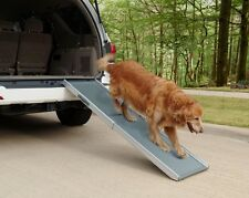 Solvit Deluxe Aluminium Telescopic Pet Car SUV Ramp -Ideal for Older & Large Dog