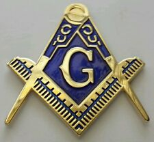 Freemason Masonic cut-out car emblem in gold