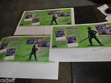 "3 LOT 1996 17X11""  PROOF PRODUCTION POSTERS ROUGH FPO ART BURGER KING TOY STORY"