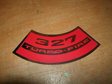 CHEVROLET 327 TURBO-FIRE 327 TURBOFIRE V8 AIR CLEANER TOP LID DECAL STICKER NEW