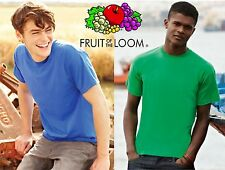 REGALO! STOCK 10 T-shirts Uomo FRUIT OF THE LOOM Tg. S M L XL XXL BIANCO nuove
