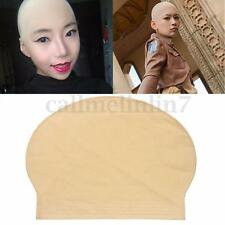 Unisex Funny Fake Bald Head Skinhead Baldy Monk Clown Fancy Dress Rubber Wig Cap
