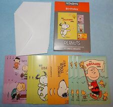 Box of 12 Birthday Cards Featuring the Peanuts by DaySpring #86067 - New