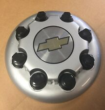 CHEVY 2500 3500 PICKUP TRUCK DUALLY FRONT CENTER CAP SILVER SIMULATOR WHEEL