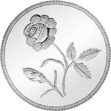 Ananth Jewels 1 gram Plain Rose Silver Coin - same day dispatch.
