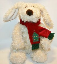 Darla and Darby Commonwealth Plush Puppy Dog Stuffed Animal Christmas Scarf Tree