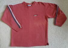 Vintage Quiksilver Red Racing Stripes Crew Sweat Shirt Sweater Mens size Medium