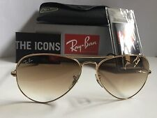 NEW Ray Ban RB3025 001/51 58mm Gold Frame Brown Gradient Sunglasses