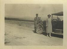 PHOTO ANCIENNE - VINTAGE SNAPSHOT - VOITURE AUTOMOBILE TACOT CHIEN DRÔLE-CAR DOG