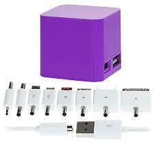 Juice Cube Powerbank +Battery Charger-Micro USB/Apple 30-pin+6 other connections