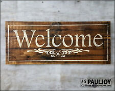 Welcome Sign on Rustic Pallet Wood. Handmade. Wedding or Housewarming Gift