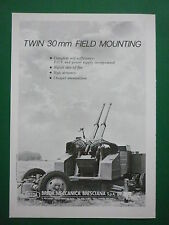 1/86 PUB BREDA TWIN 30 MM FIELD MOUNTING DCA - NORMED CHANTIERS NORD MEDIT AD
