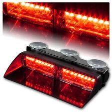 16LED Car Truck Emergency Beacon Light Bar Windshield Strobe Warning Lamp Red12V