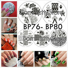 5Pcs BORN PRETTY BP76-80 Nail Art Manicure Stamping Template Image Plate DIY Kit