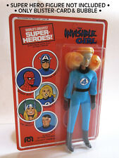 """MEGO INVISIBLE GIRL REPRO WGSH 8"""" 1979 BLISTER CARD & BUBBLE - BOX - FANTASTIC 4"""